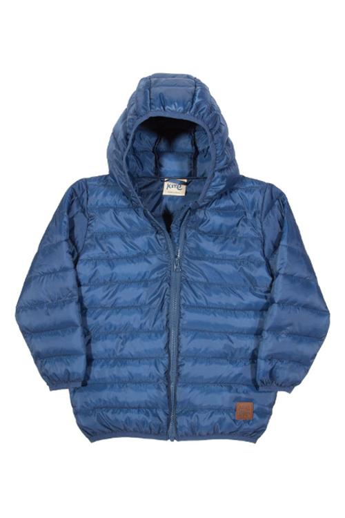 roberta organic fashion Kite Anorak für Kinder in blau front