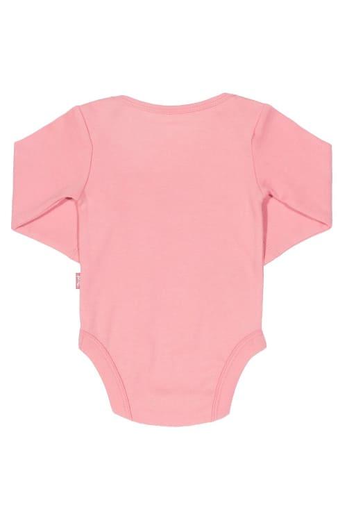 roberta organic fashion Kite Body Mädchen mit Hasen rosa back