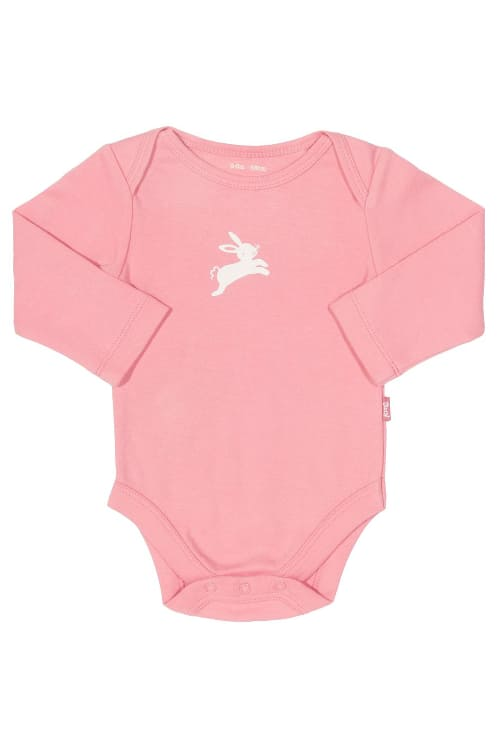 roberta organic fashion Kite Body Mädchen mit Hasen rosa