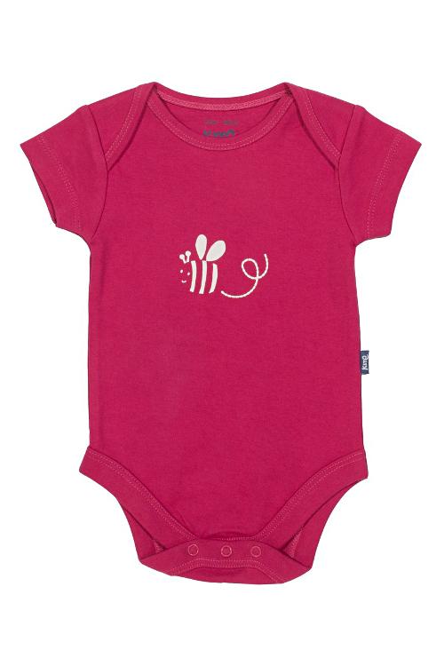 roberta organic fashion Kite Body Set Bienen pink