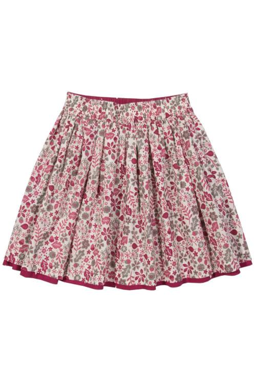 roberta organic fashion Kite Rock zum Wenden für Mädchen pink Blumen