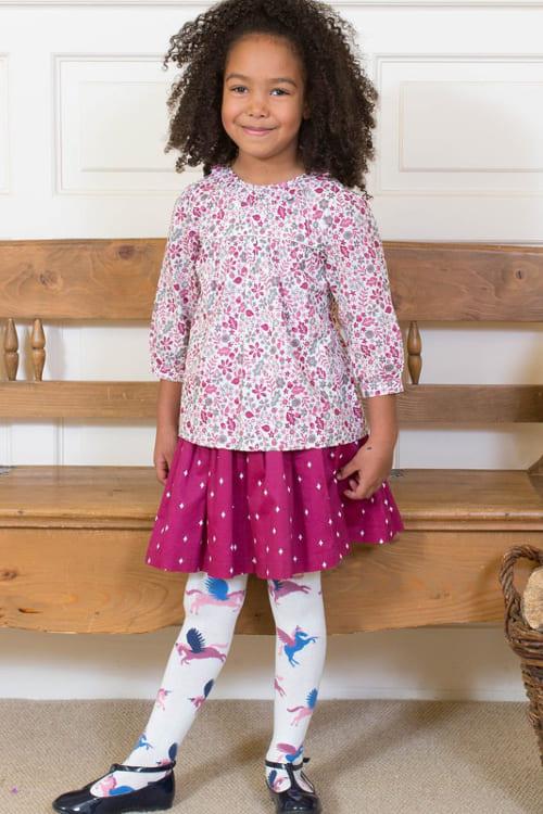 roberta organic fashion Kite Rock zum Wenden für Mädchen pink getragen