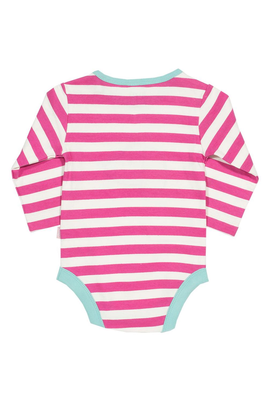 roberta organic fashion Kite Strampler pink weiss gestreift Dackel hinten
