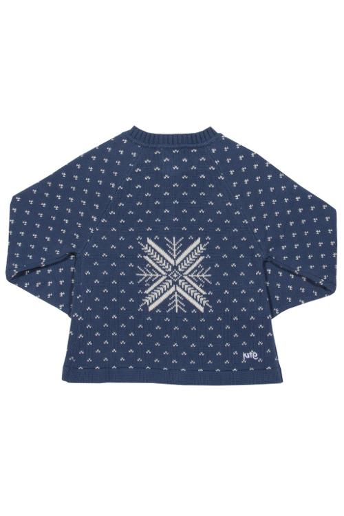 roberta organic fashion Kite Strickjacke für Kinder in blau back