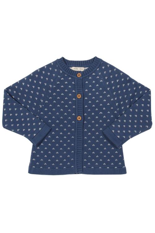 roberta organic fashion Kite Strickjacke für Kinder in blau front