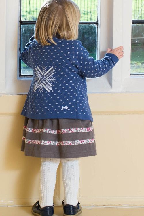 roberta organic fashion Kite Strickjacke für Kinder in blau