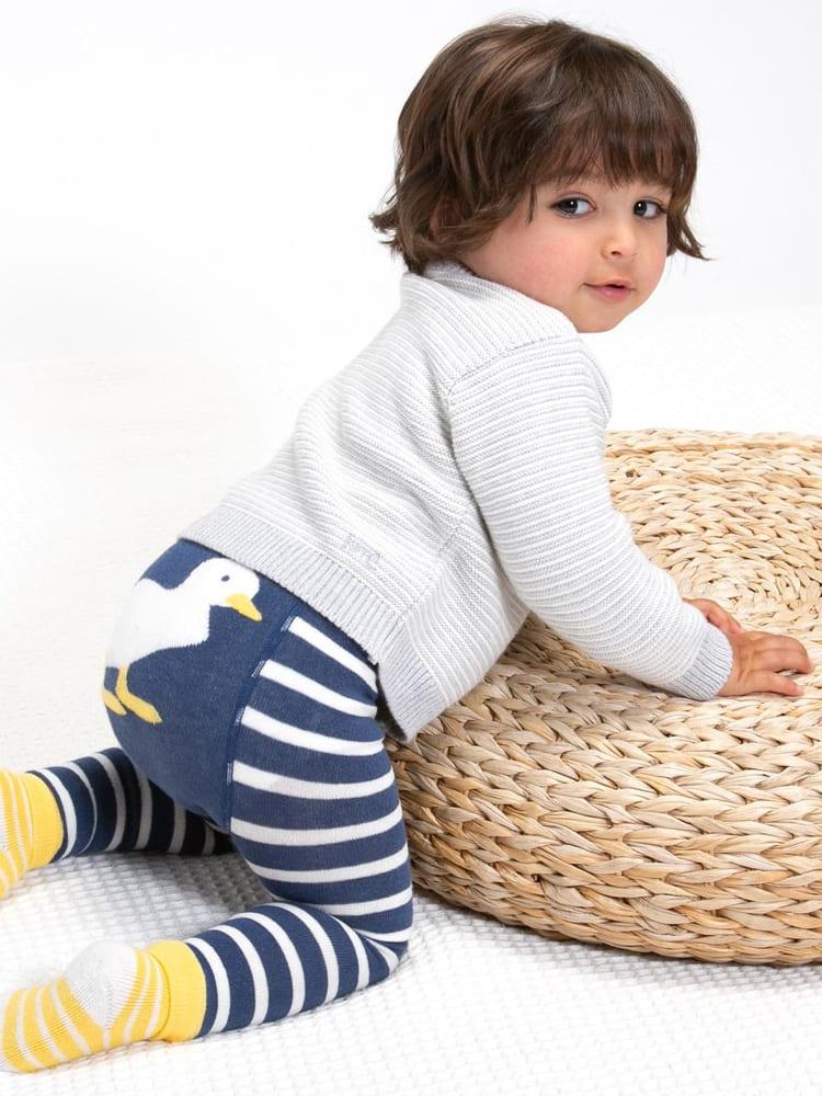 roberta organic fashion Kite Strickjacke gestreift grau weiss 1