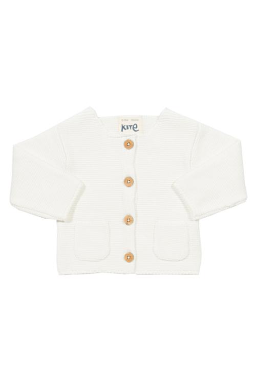 roberta organic fashion Kite Strickjacke weiß front