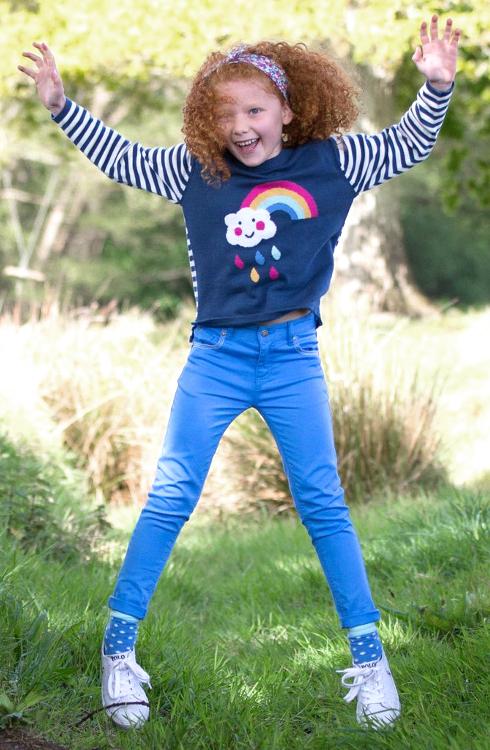 roberta organic fashion Kite skinny Jeans blau getragen