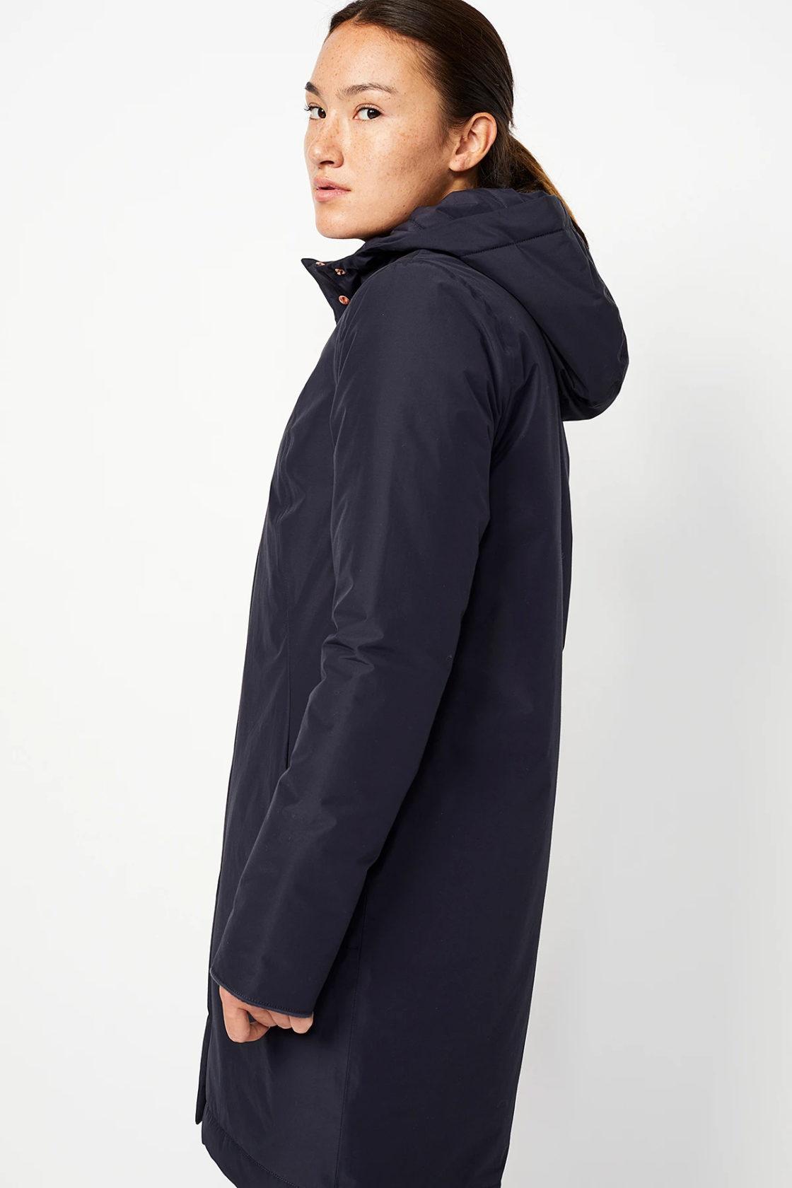 Roberta Organic Fashion Langerchen Coat Ariza Navy 3