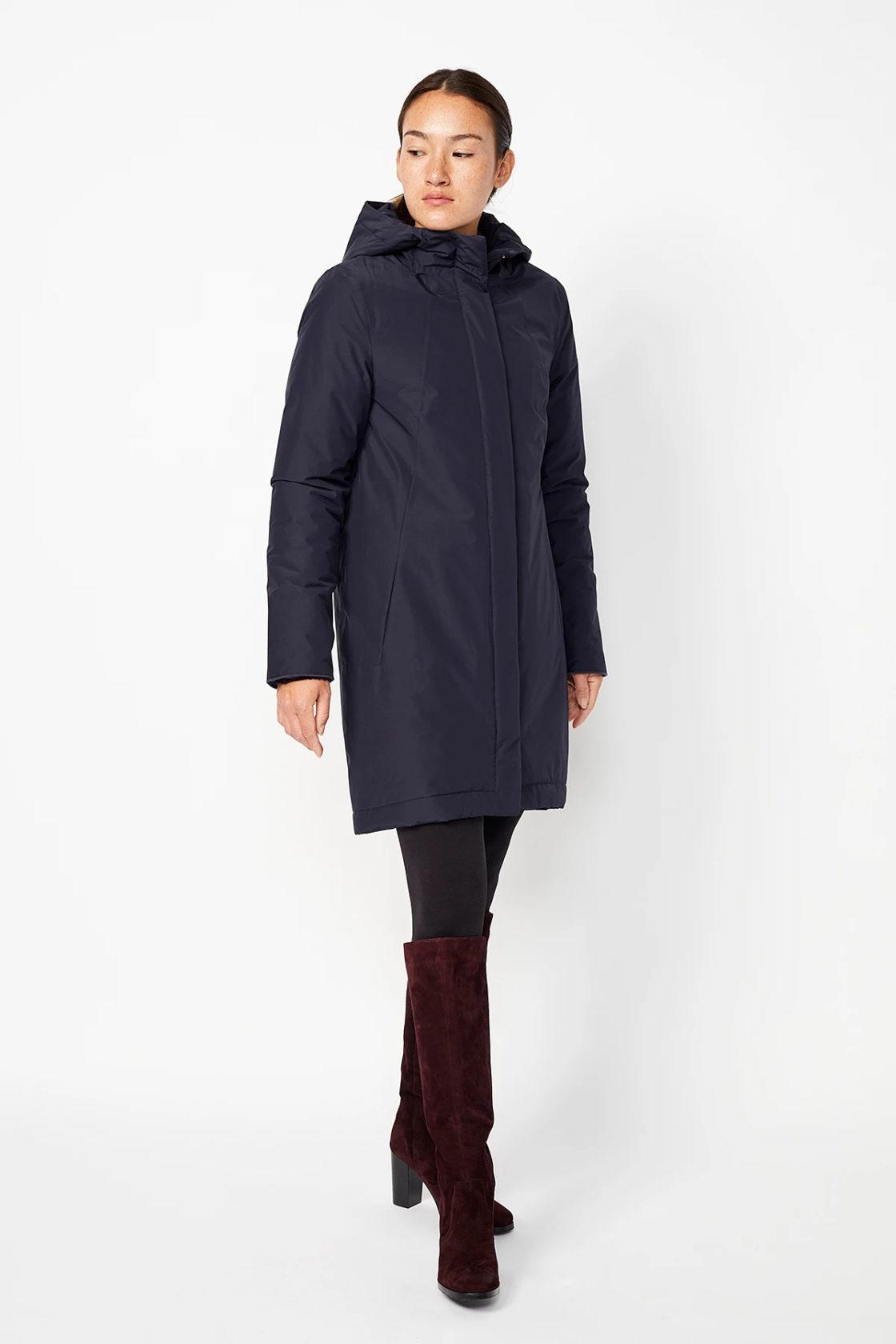 Roberta Organic Fashion Langerchen Coat Ariza Navy 5