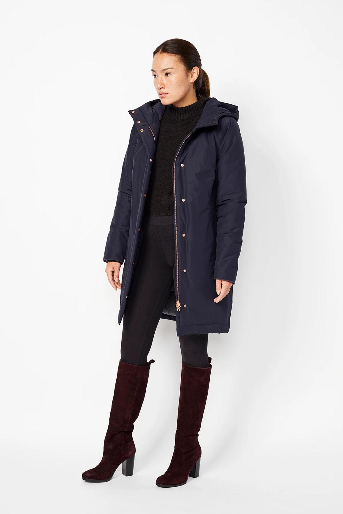 Roberta Organic Fashion Langerchen Coat Ariza Navy