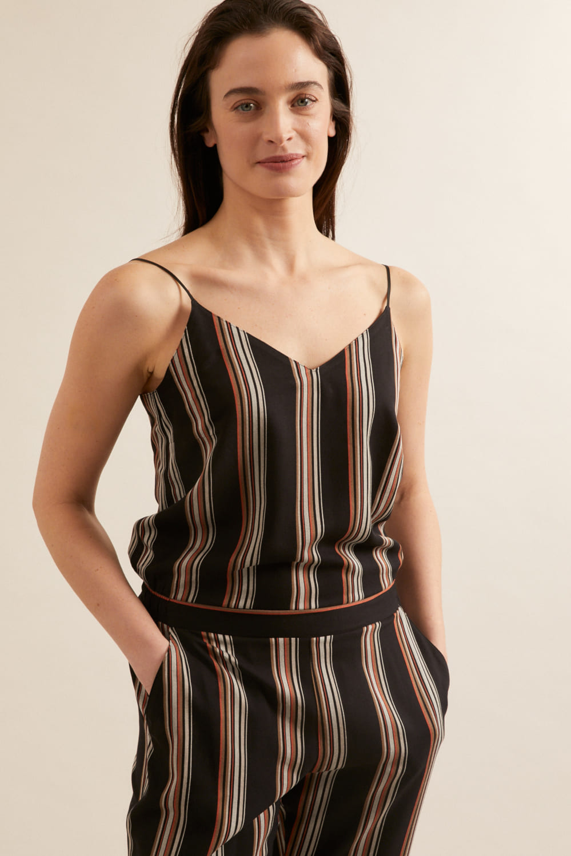 roberta organic fashion Lanius Jumpsuit black stripes 2