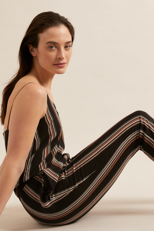 roberta organic fashion Lanius Jumpsuit black stripes 4