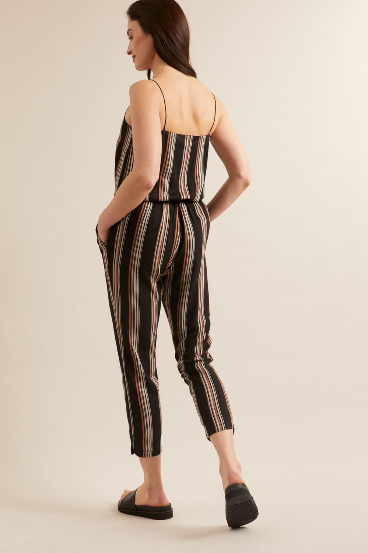roberta organic fashion Lanius Jumpsuit black stripes 5