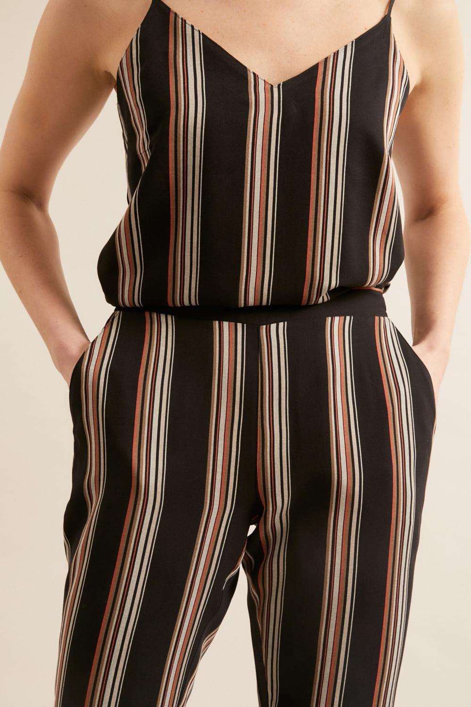 roberta organic fashion Lanius Jumpsuit black stripes