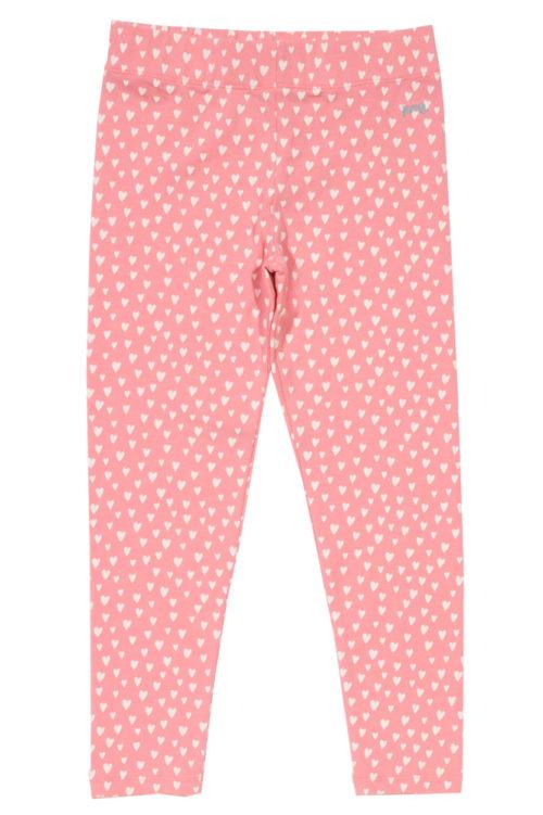 Leggings für Mädchen mit Herzschen in rosa bei roberta organic fashion