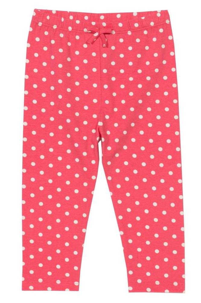 Leggings für Mädchen in Pink mit Punkten