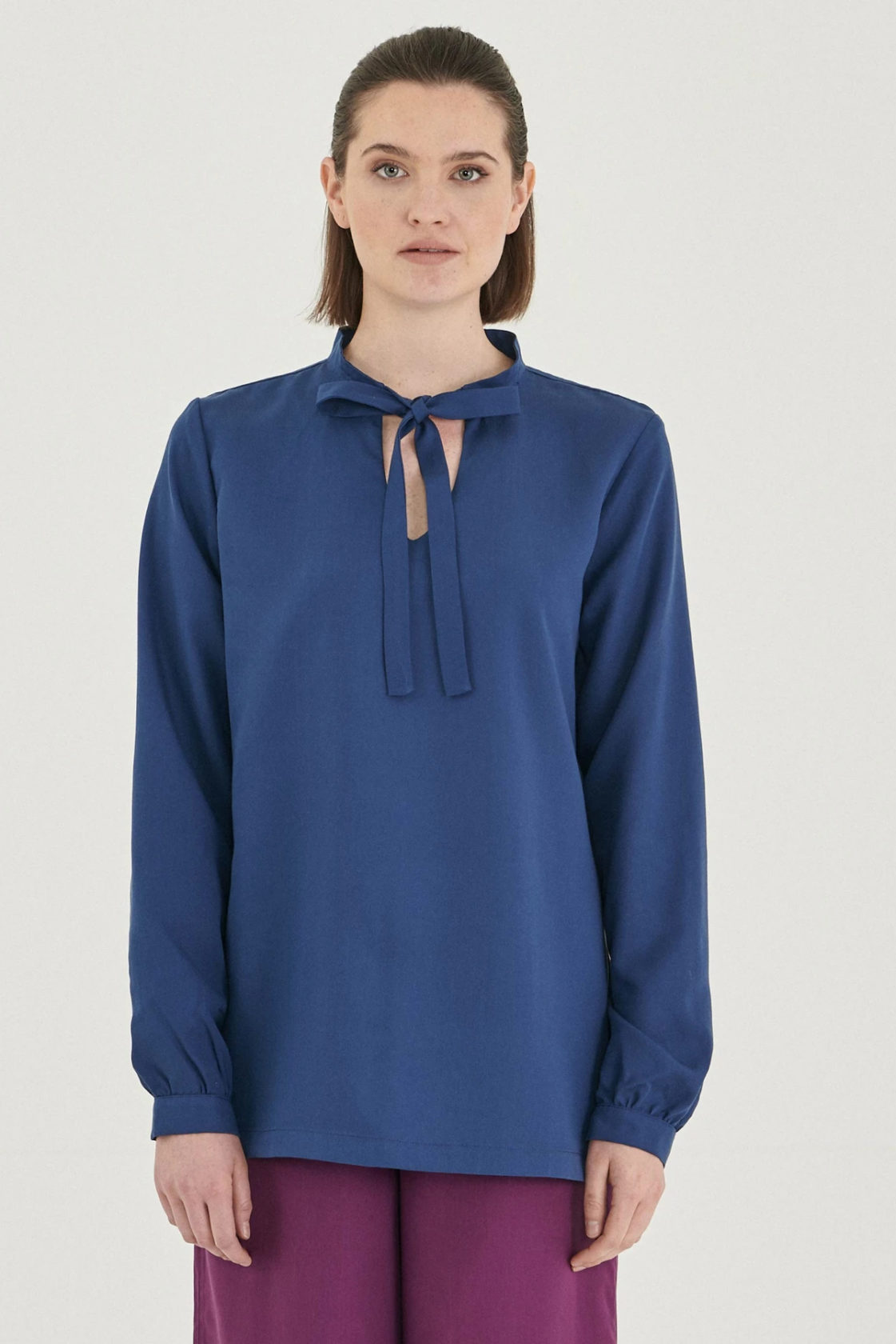 Roberta Organic Fashion Organication Bluse Blau 1