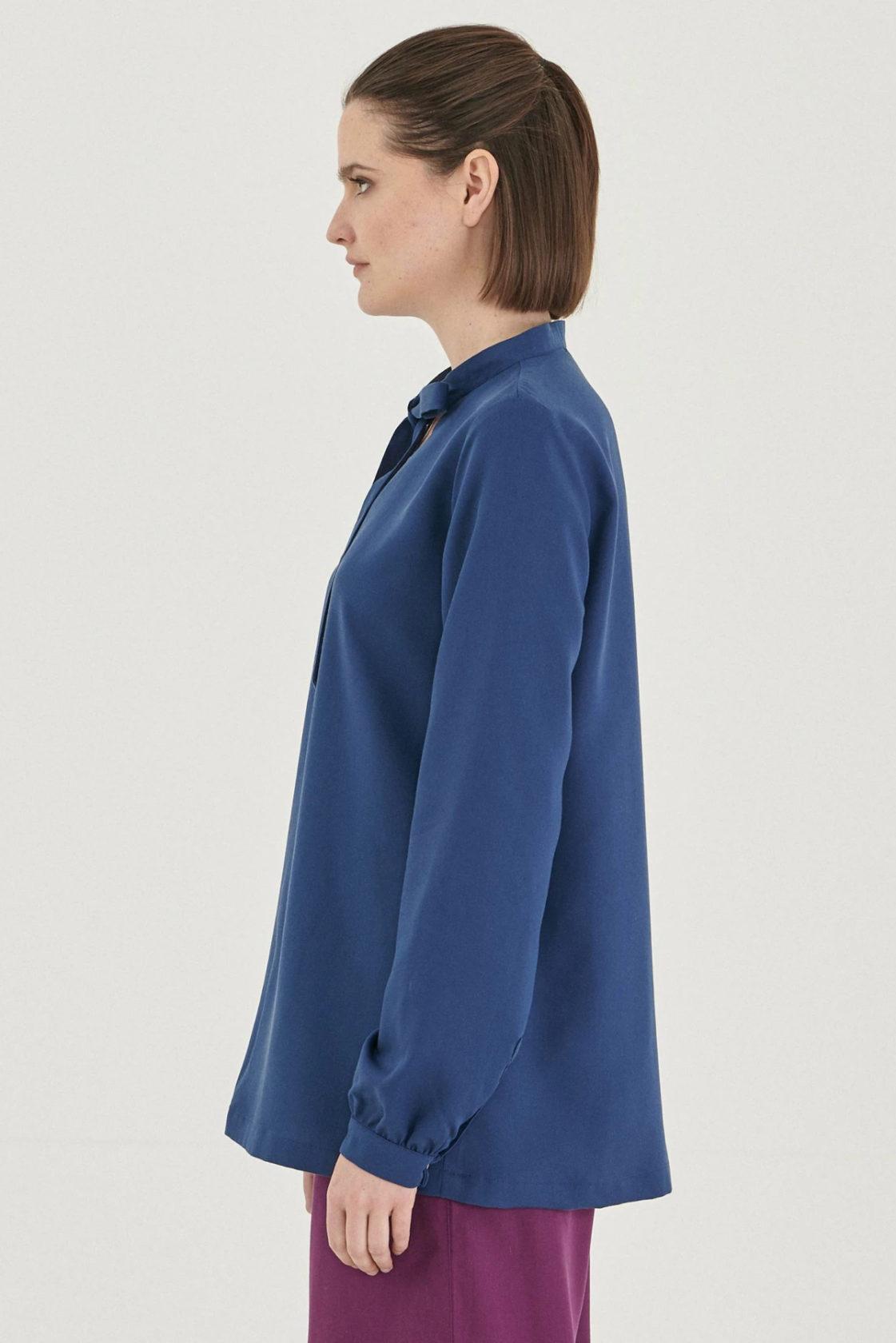 Roberta Organic Fashion Organication Bluse Blau 2