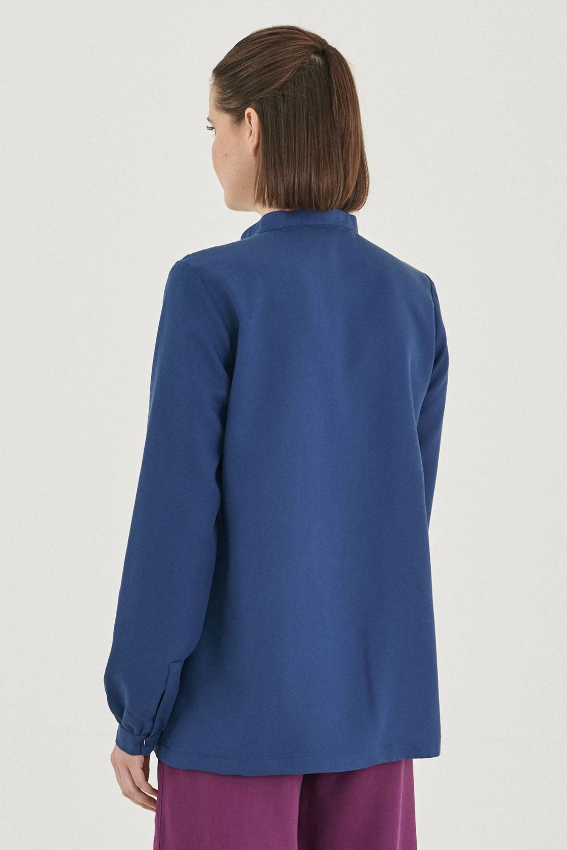 Roberta Organic Fashion Organication Bluse Blau 3