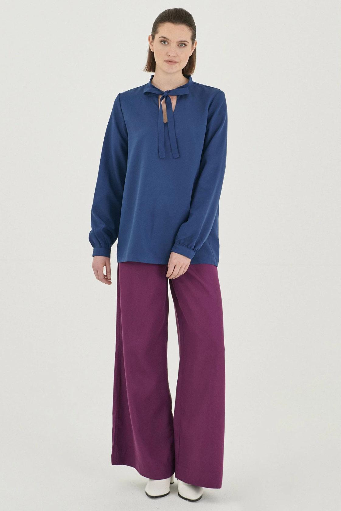 Roberta Organic Fashion Organication Bluse Blau 4
