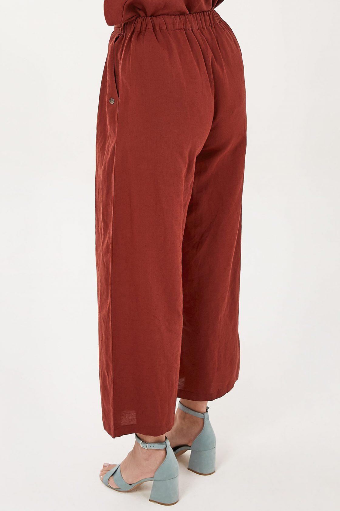 Roberta Organic Fashion Organication Hose Mit Leinen Hot Chocolate 1