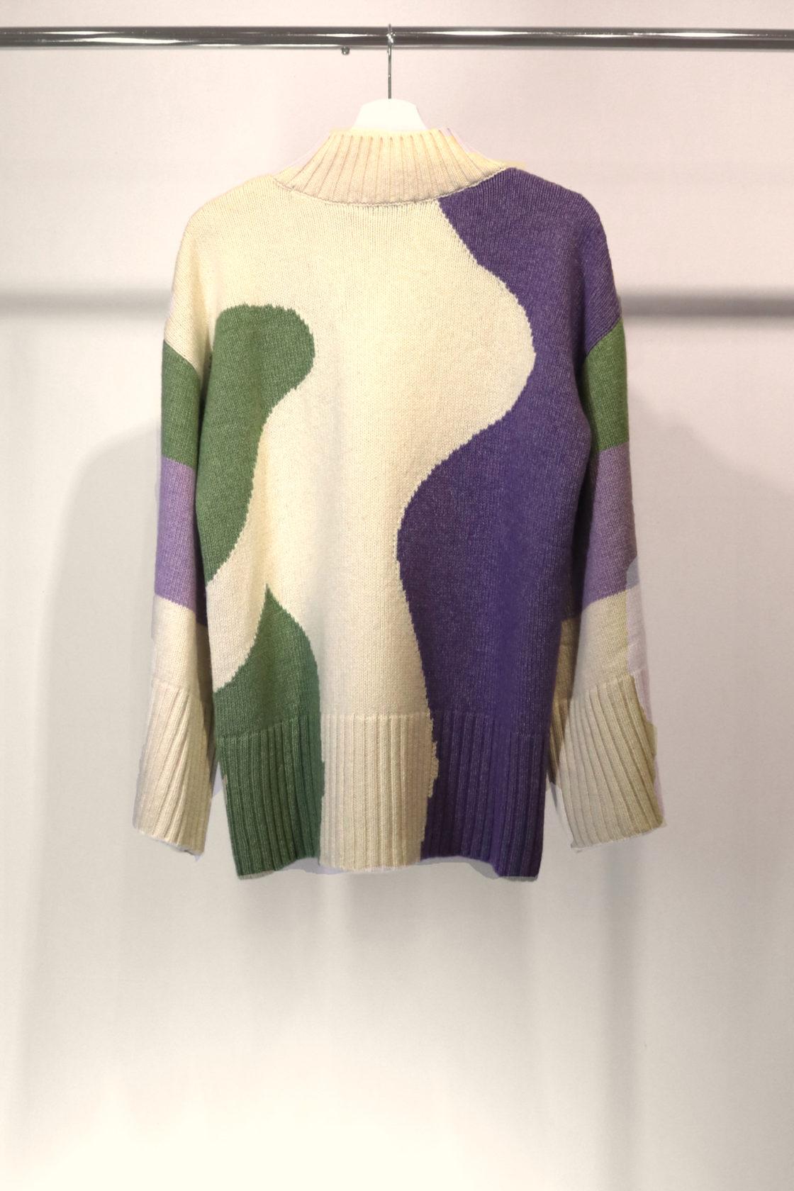 Roberta Organic Fashion Organication Oversized Pullover Lila Grün