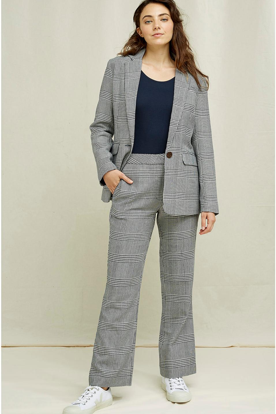 Roberta Organic Fashion Peopletree Blazer Mirren Checkered 5