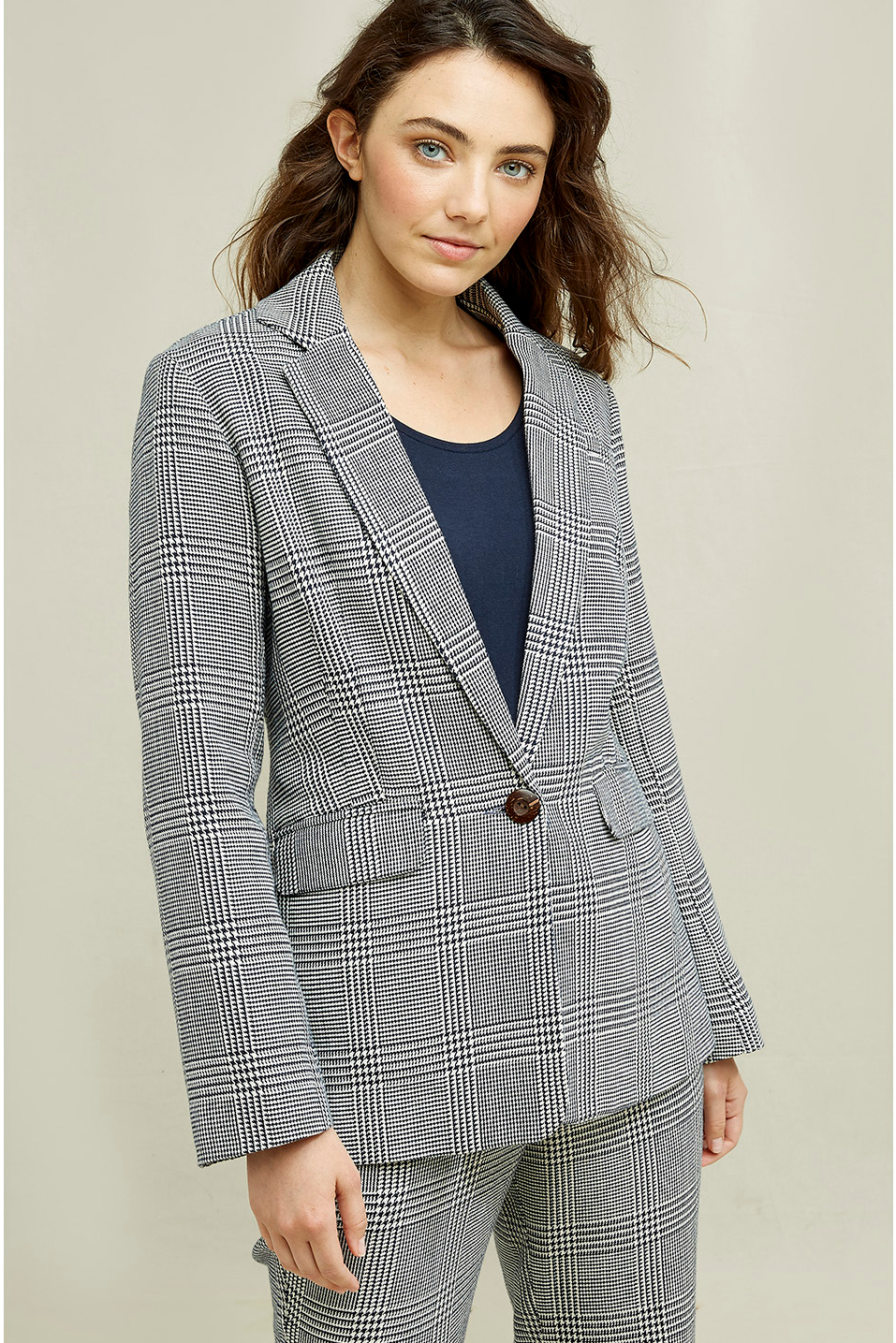 Roberta Organic Fashion Peopletree Blazer Mirren Checkered 7