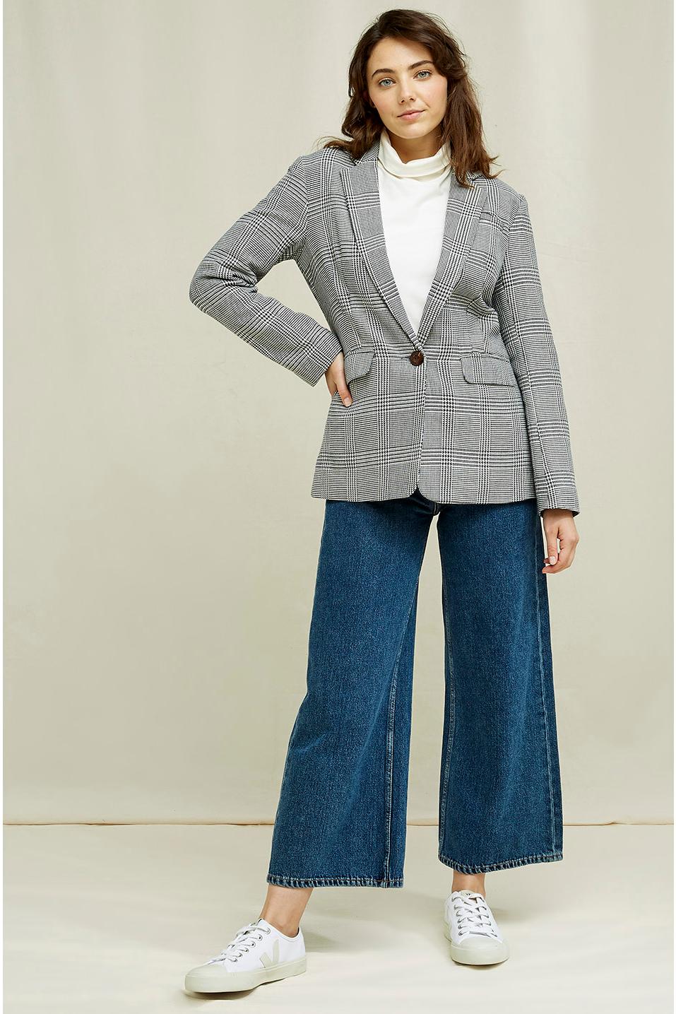 Roberta Organic Fashion Peopletree Blazer Mirren Checkered 8