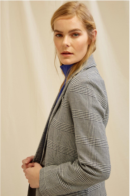 Roberta Organic Fashion Peopletree Blazer Mirren Checkered