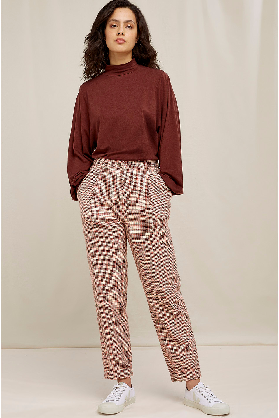 Roberta Organic Fashion Peopletree Hose Annis Houndstooth 3