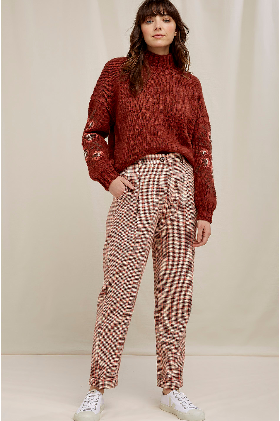 Roberta Organic Fashion Peopletree Hose Annis Houndstooth