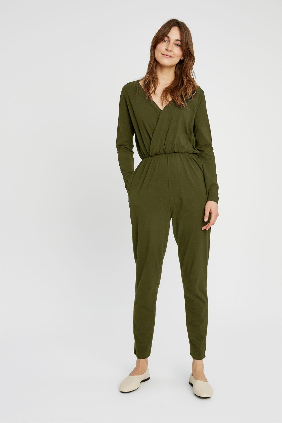 Roberta Organic Fashion Peopletree Jumpsuit Odette Khaki 1