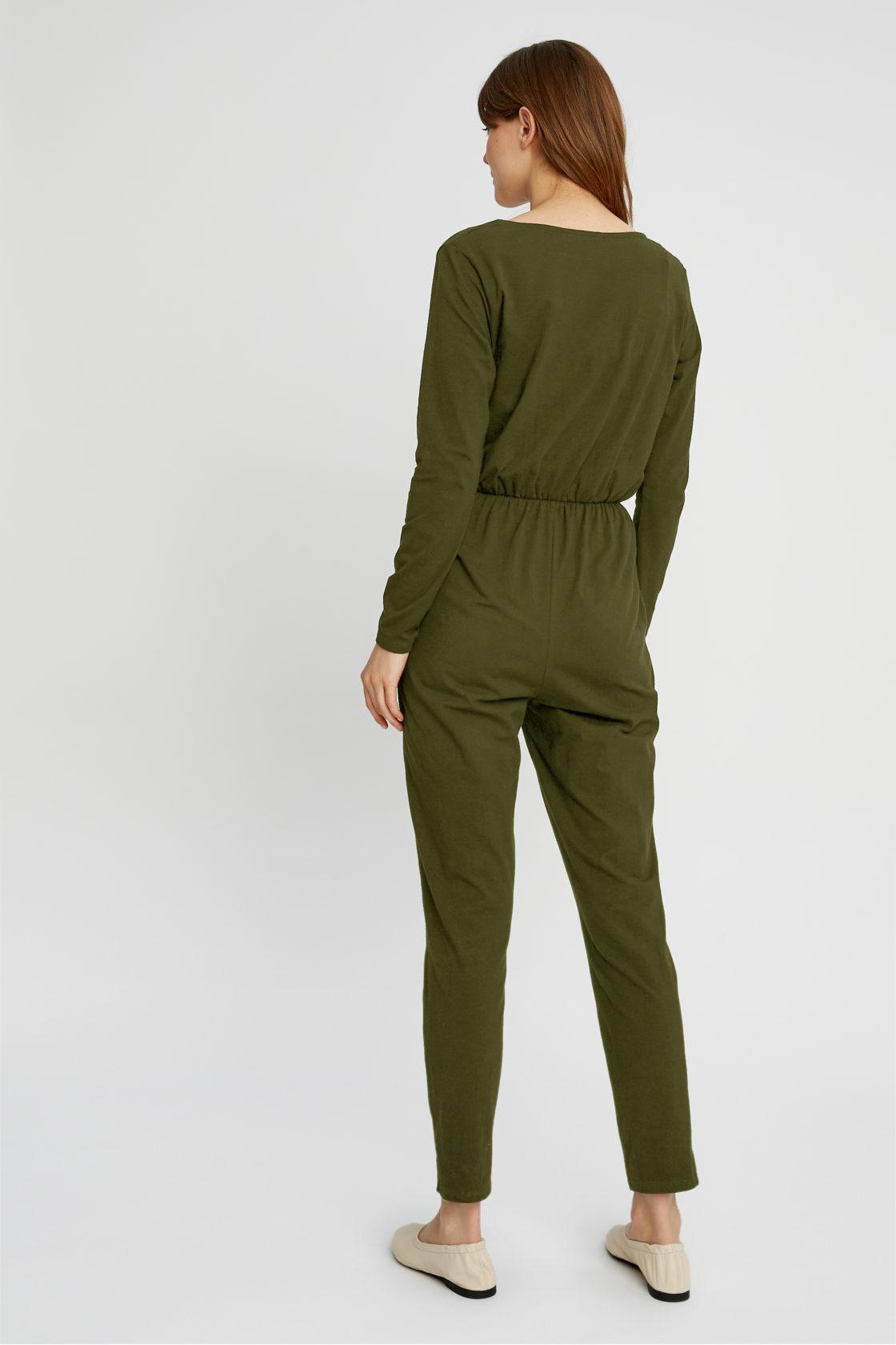 Roberta Organic Fashion Peopletree Jumpsuit Odette Khaki 2