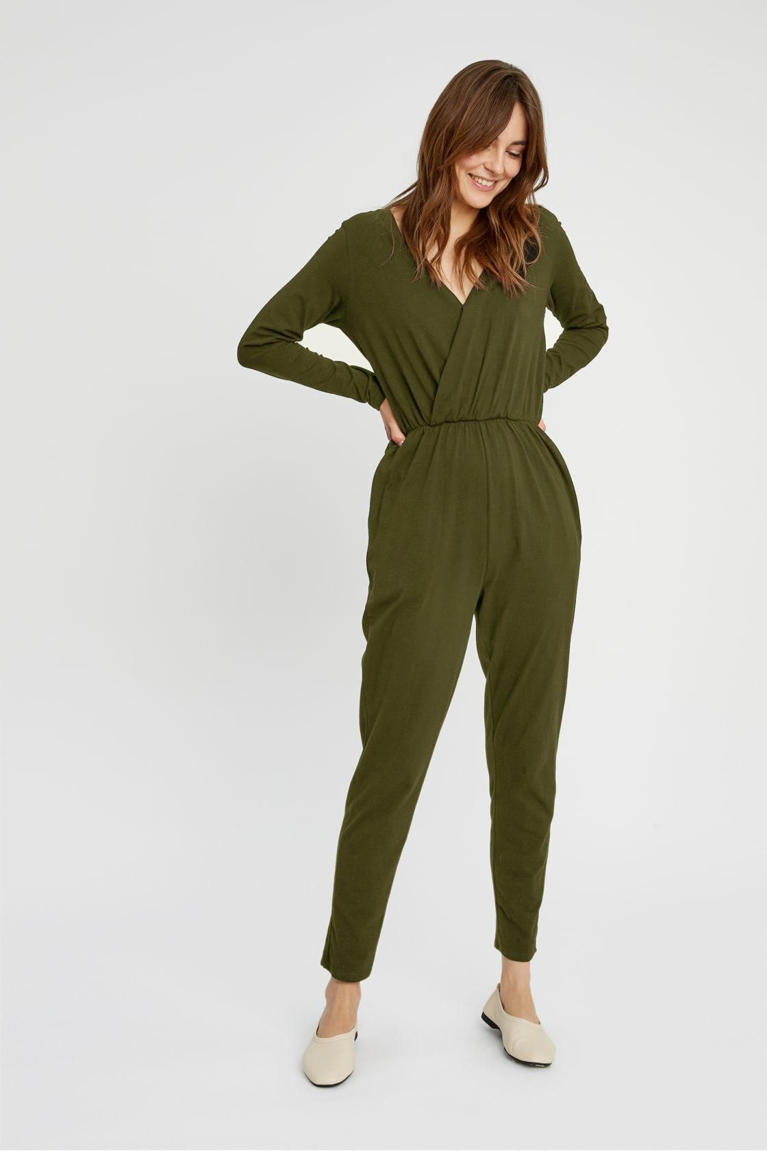 Roberta Organic Fashion Peopletree Jumpsuit Odette Khaki 3