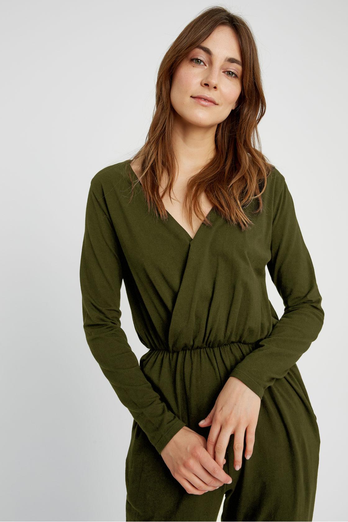 Roberta Organic Fashion Peopletree Jumpsuit Odette Khaki