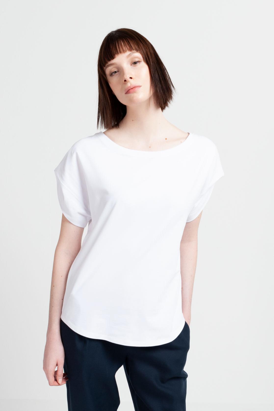 Roberta Organic Fashion Shipsheip Ellie T Shirt White (1)