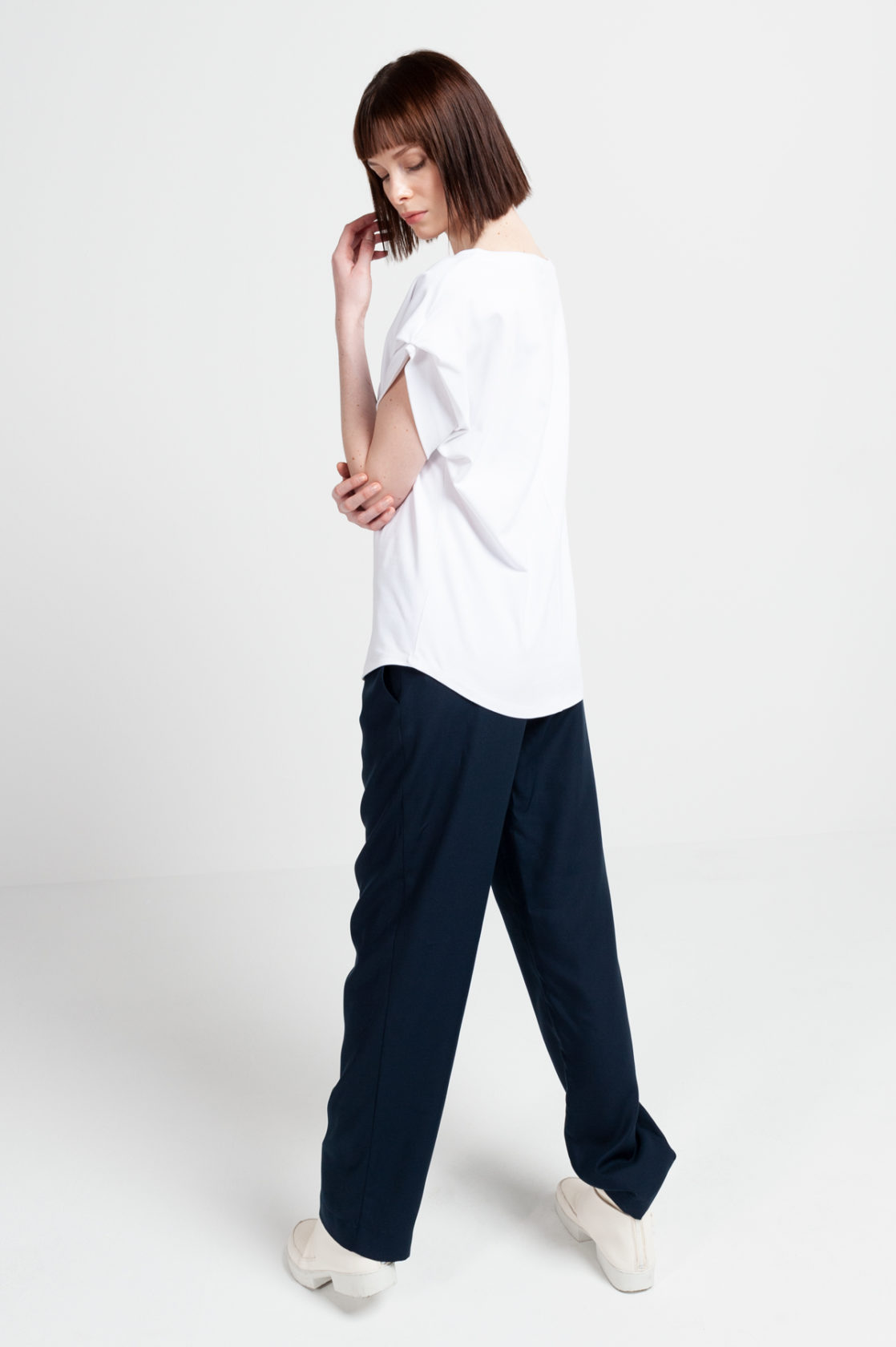 Roberta Organic Fashion Shipsheip Ellie T Shirt White (2)