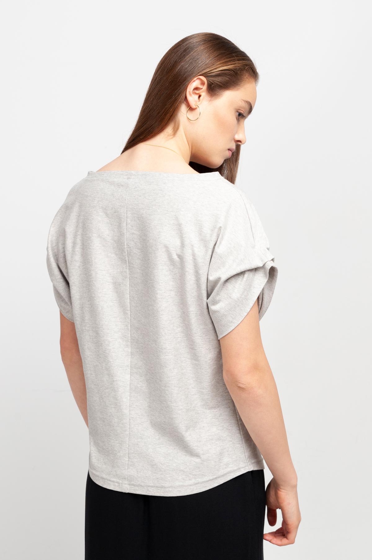 Roberta Organic Fashion Shipsheip T Shirt Ellie Blouse Grau Meliert (2)