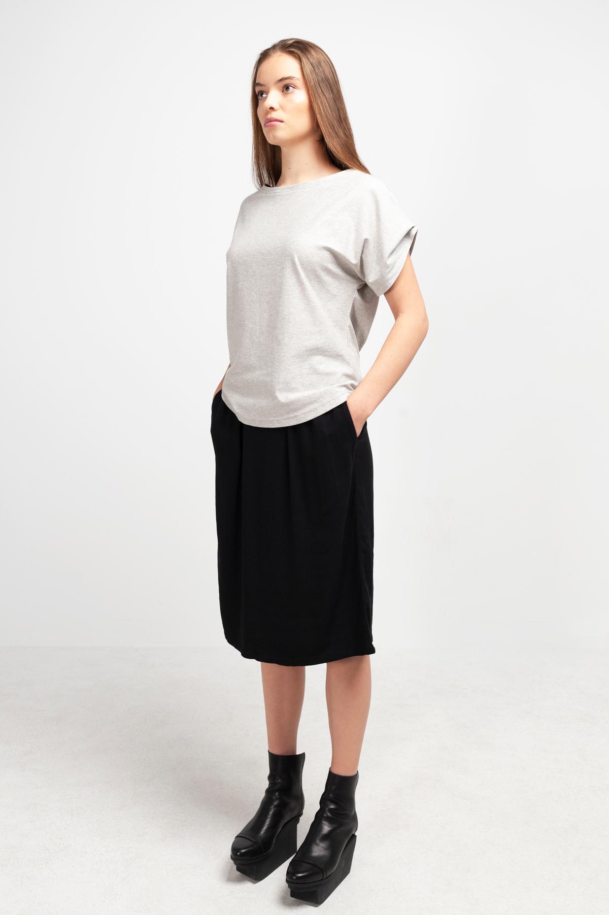 Roberta Organic Fashion Shipsheip T Shirt Ellie Blouse Grau Meliert (3)