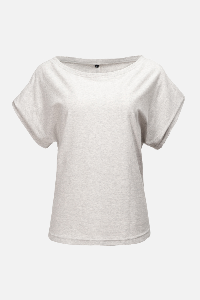 Roberta Organic Fashion Shipsheip T Shirt Ellie Blouse Grau Meliert