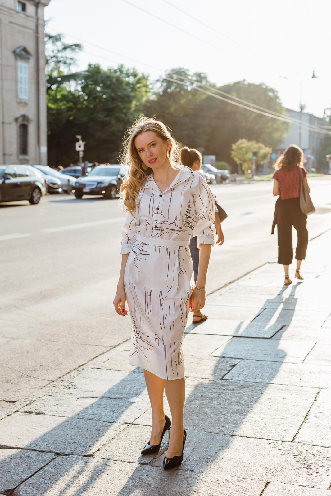 Roberta Organic Fashion Sophia Schneider Esleben Hemd Rock Snow 1