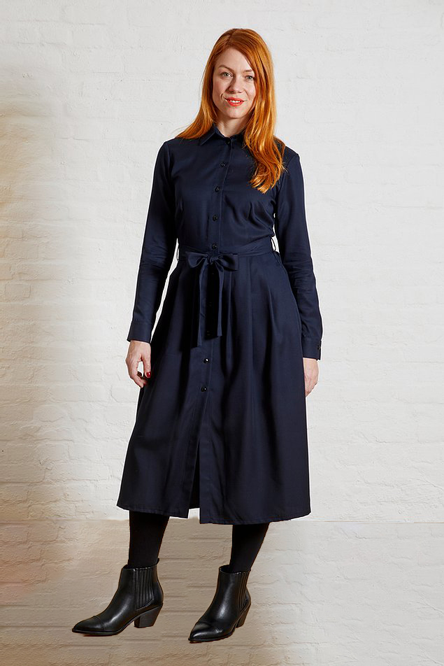 Roberta Organic Fashion Sophia Schneider Esleben Kleid Marie Navy 1