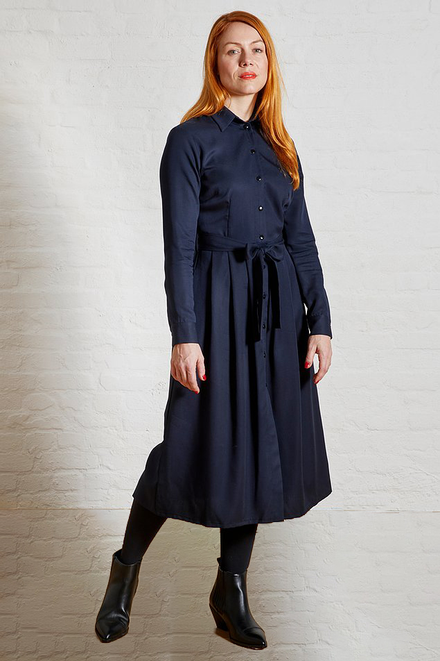 Roberta Organic Fashion Sophia Schneider Esleben Kleid Marie Navy
