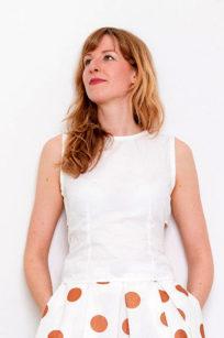 Roberta Organic Fashion Sophia Schneider Esleben Top Weiß Front