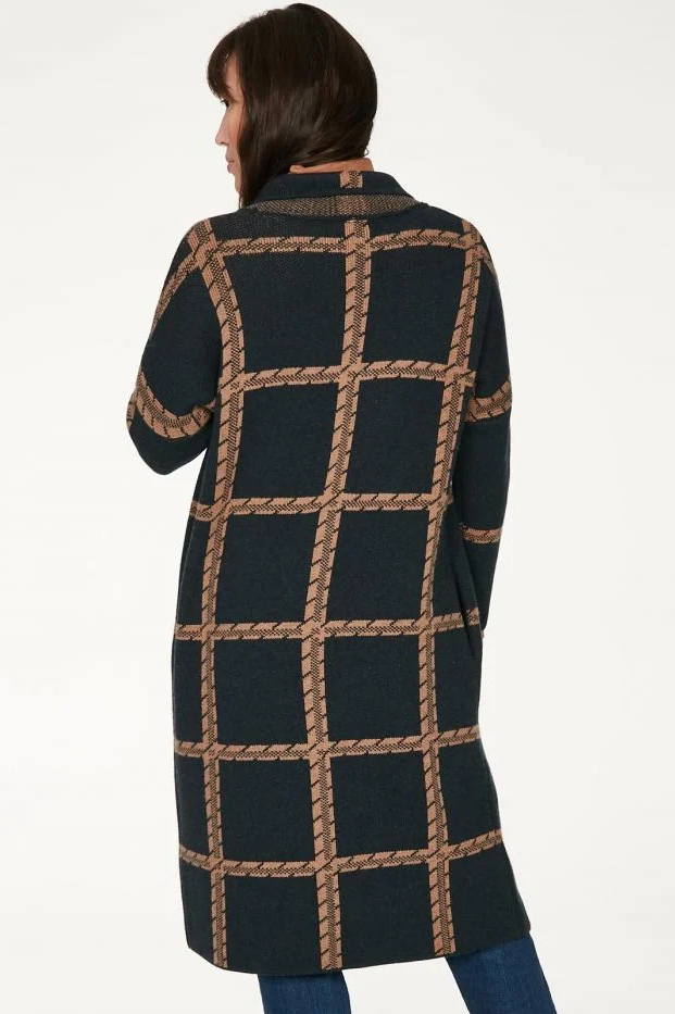 Roberta Organic Fashion Thought Strickmantel Chatterton Navy 3