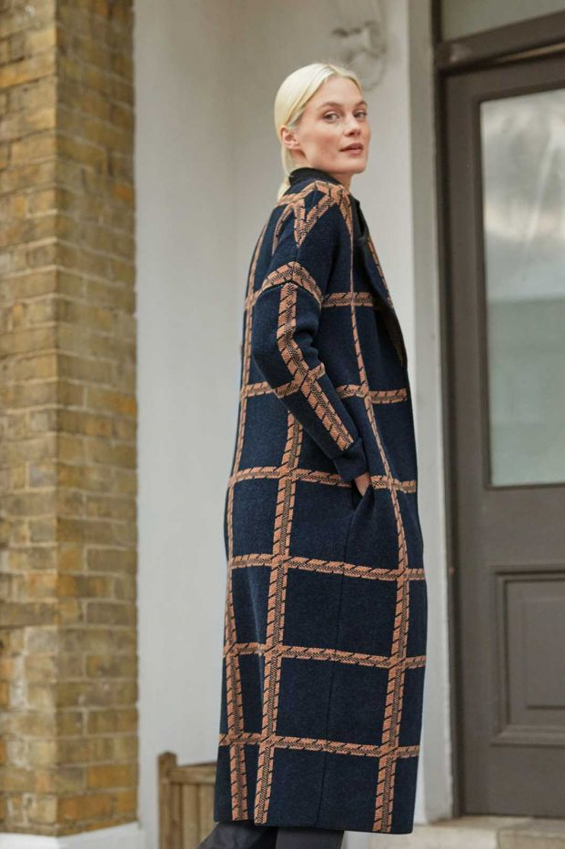 Roberta Organic Fashion Thought Strickmantel Chatterton Navy 5