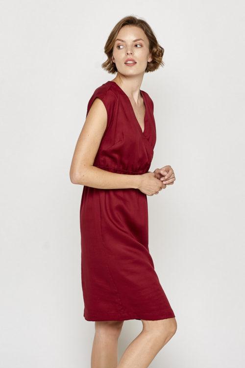 Roberta Organic Fashion Tranquillo Kleid Louise Rot